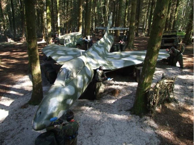 Bristol Hamburger Hill Bedlam Paintball Plane