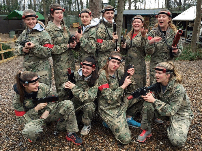 Girl Hen Party Lasertag 2