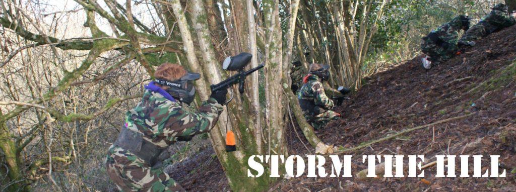 Magherafelt Paintball Zone Storm the hill Bedlam