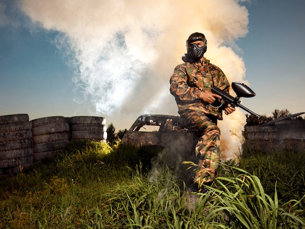 Man Paintball Smoke