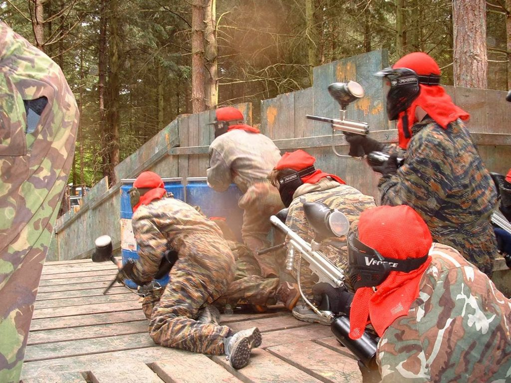 Reading Bedlam Weekend Warrior Paintball Bridge