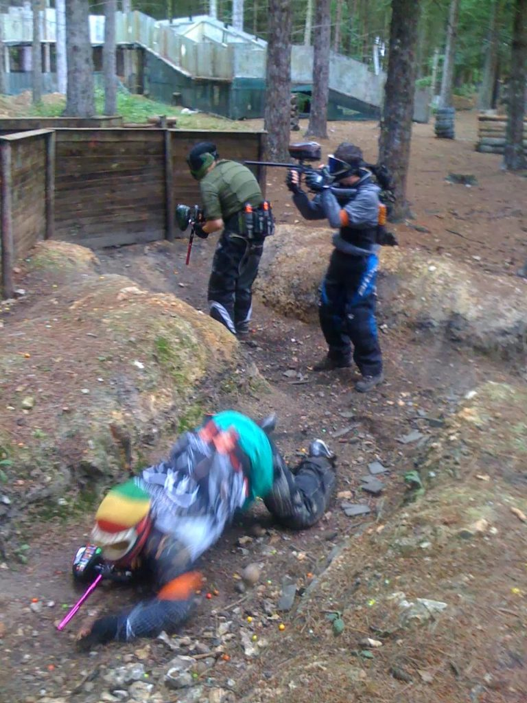 Reading Bedlam Weekend Warrior Paintball trench