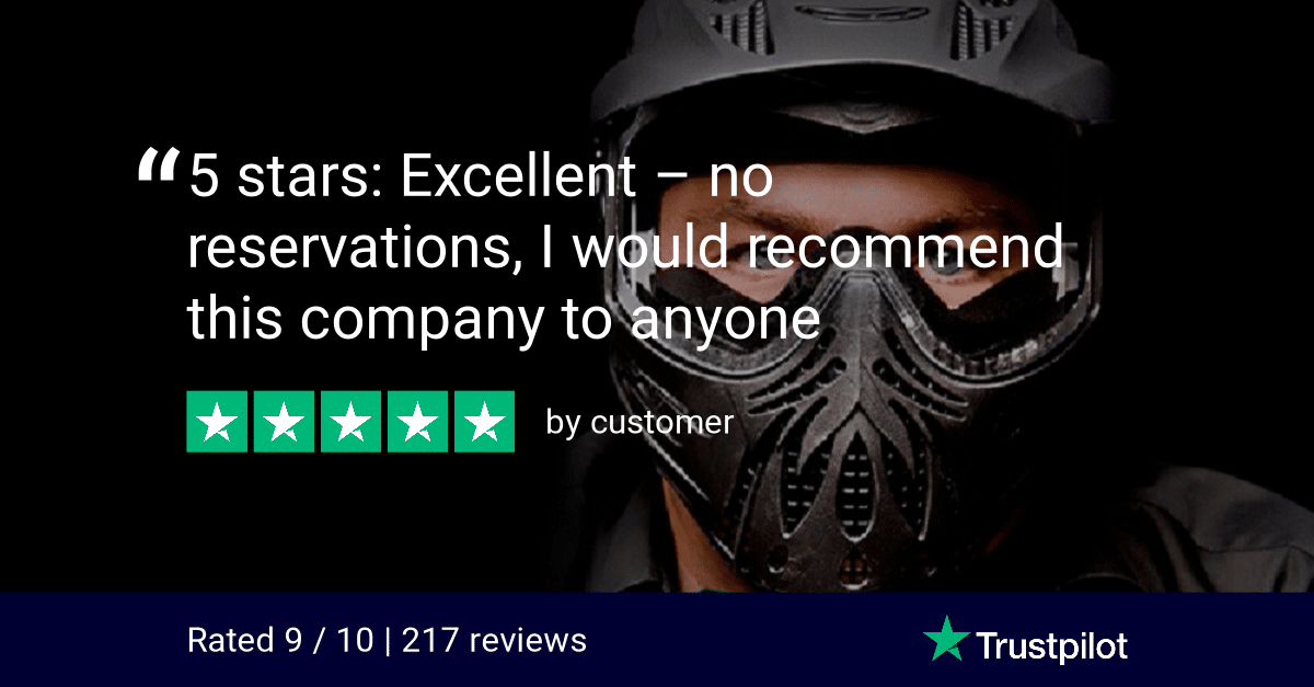 Trustpilot Review 5 Stars Excellent Bedlam Paintball