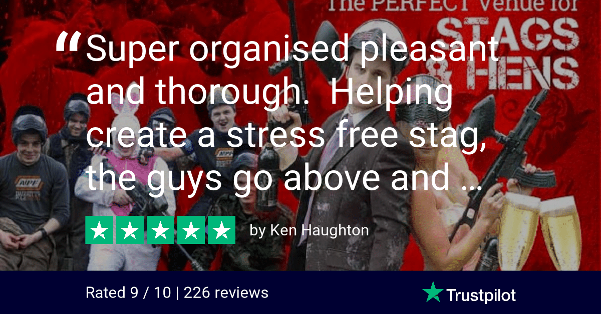 Trustpilot Review Ken Haughton stag Party Bedlam Paintball