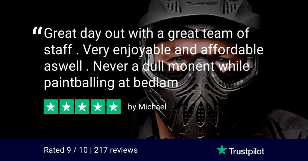 Trustpilot Review Michael Bedlam Paintball