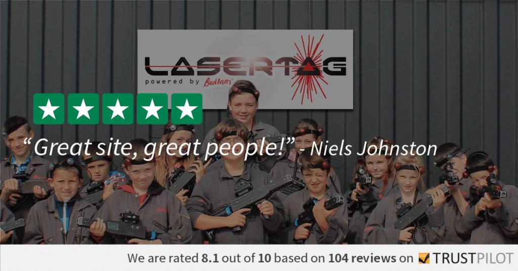 Trustpilot Review Niels Johnston Lasertag 1