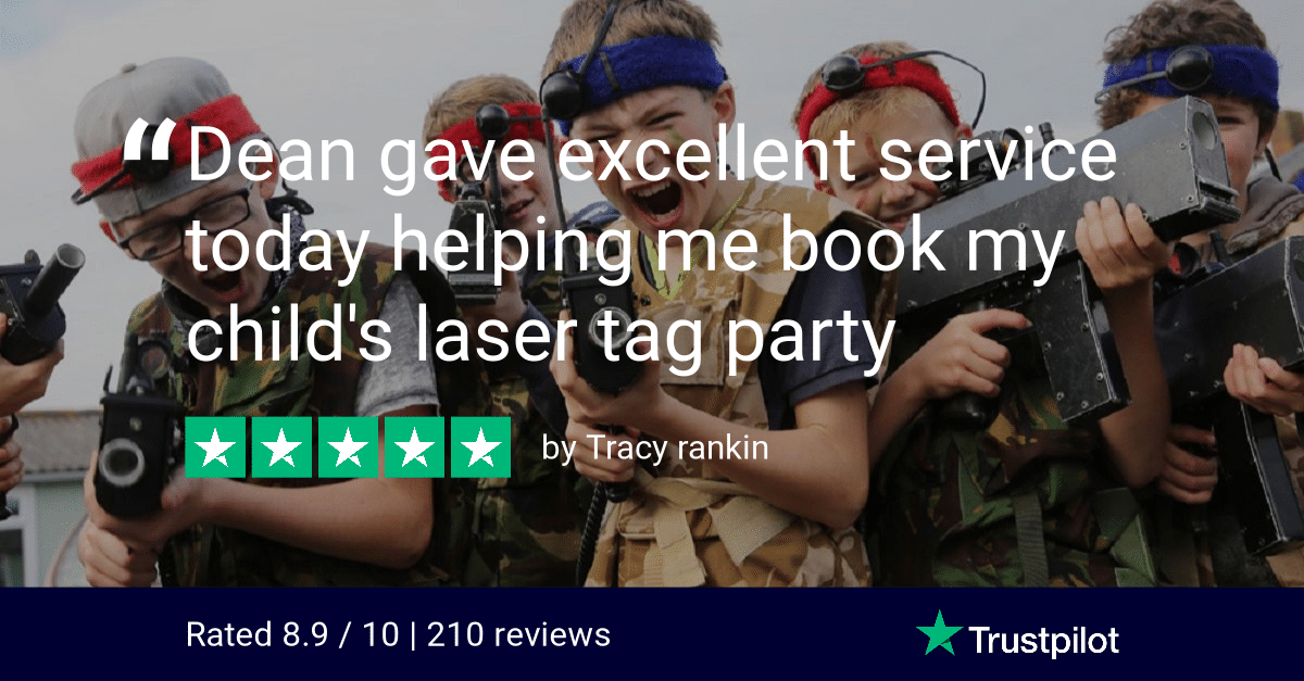 Trustpilot Review Tracy rankin Lasertag Bedlam