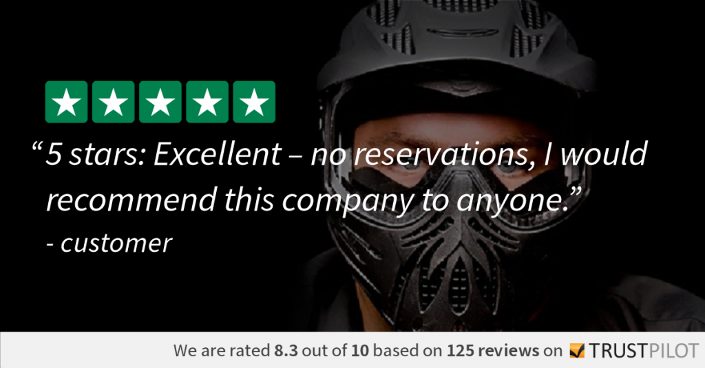 Trustpilot Review customer Booking Bedlam Paintball
