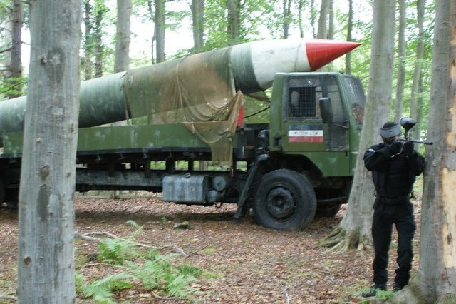 scud missile launcher paintball Bedlam Paintball abergele