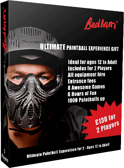 Ultimate Bedlam Paintball Gift Voucher