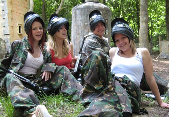 Bedlam Paintball Girls Paintball Edinburgh hero