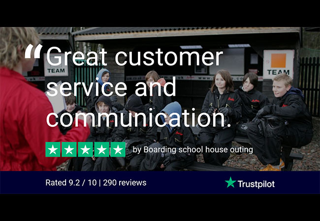 Trustpilot Review Boarding school house outing hero