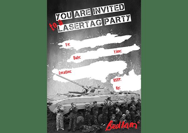 bedlam LASERTAG Invite thumb