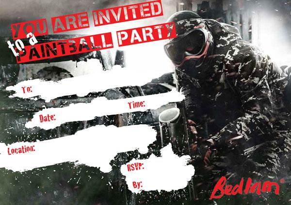 bedlam Paintball Invite thumb