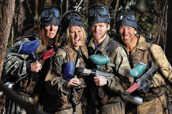 Bedlam Paintball Girls Boys Group Days slideshow