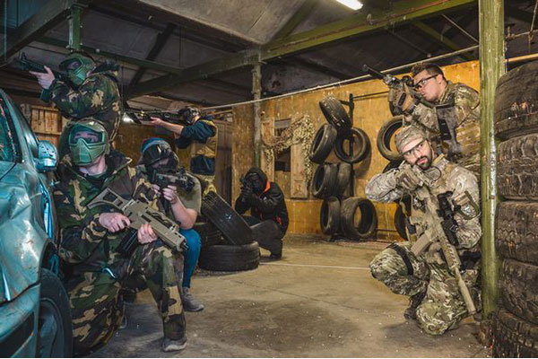 Bedlam indoor Paintball airsoft slideshow
